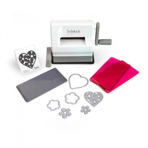 sizzix white and gray sidekick starter kit featuring