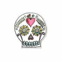 Sizzix - My Happy Life Collection - Framelits Die with Clear Acrylic Stamp Set - Sugar Skull