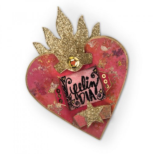 Sizzix - My Happy Life Collection - Bigz Die - Heart Shrine