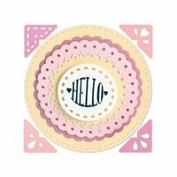 Sizzix - Framelits Die with Clear Acrylic Stamp Set - Circle Sentiments