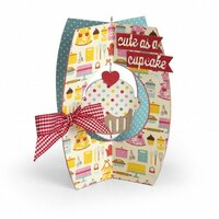 Sizzix - Thinlits Die - Card, Cupcake