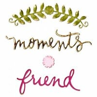 Sizzix - Thinlits Die - Floral Arch and Words