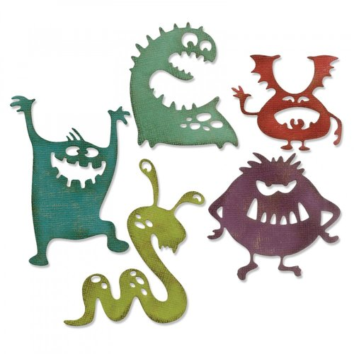 Sizzix - Tim Holtz - Alterations Collection - Halloween - Thinlits Die - Silly Monsters
