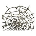 Sizzix - Tim Holtz - Alterations Collection - Halloween - Thinlits Die - Cobweb