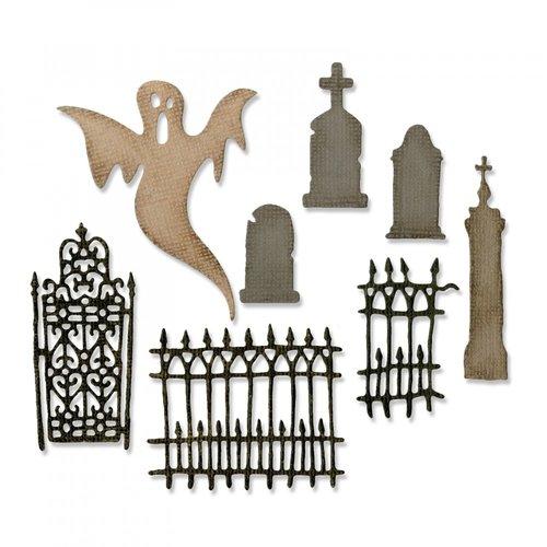 Sizzix - Tim Holtz - Alterations Collection - Halloween - Thinlits Die - Village Graveyard