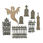 Sizzix - Tim Holtz - Alterations Collection - Halloween - Thinlits Die - Village Graveyard