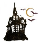 Sizzix - Tim Holtz - Alterations Collection - Halloween - Thinlits Die - Haunted House