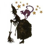 Sizzix - Tim Holtz - Alterations Collection - Halloween - Thinlits Die - Witchcraft
