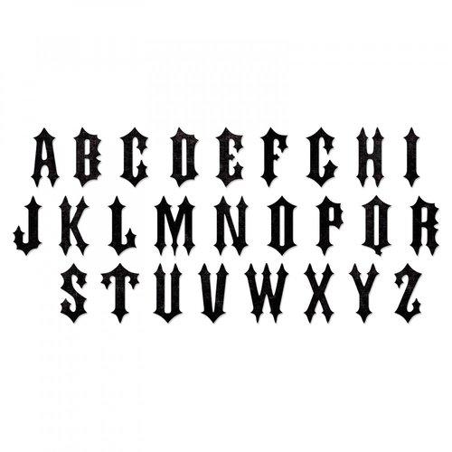 Sizzix - Tim Holtz - Alterations Collection - Halloween - Bigz XL Alphabet Die - Gothic