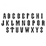 Sizzix - Tim Holtz - Alterations Collection - Halloween - Bigz XL Alphabet Die - Gothic
