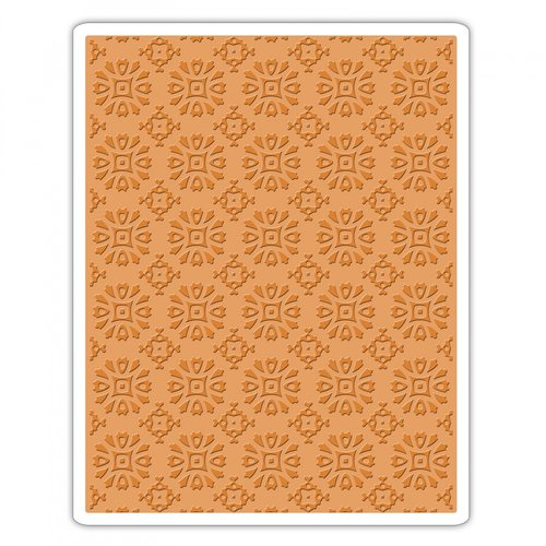 Sizzix - Tim Holtz - Alterations Collection - Halloween - Texture Fades - Embossing Folder - Rosettes