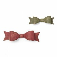 Sizzix - Tim Holtz - Alterations Collection - Christmas - Thinlits Die - Fold-up Bows