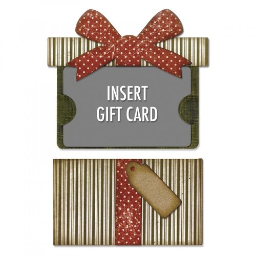 Sizzix - Tim Holtz - Alterations Collection - Christmas - Thinlits Die - Gift Card Package