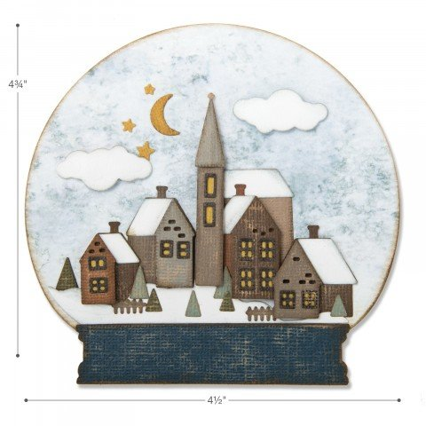 Sizzix - Tim Holtz - Alterations Collection - Christmas - Thinlits Die - Snowglobe 2