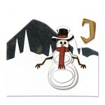Sizzix - Tim Holtz - Alterations Collection - Christmas - Thinlits Die - Snowman Scene