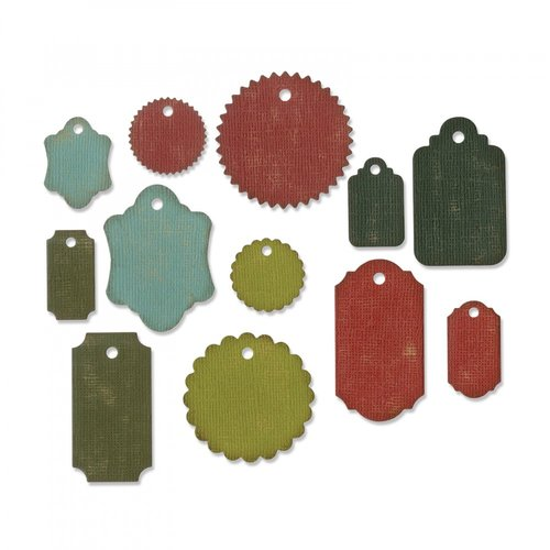 Sizzix - Tim Holtz - Alterations Collection - Christmas - Thinlits Die - Gift Tags