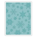 Sizzix - Tim Holtz - Alterations Collection - Christmas - Texture Fades - Embossing Folder - Simple Snowflakes