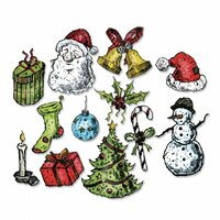 Sizzix - Tim Holtz - Alterations Collection - Framelits Dies - Tattered Christmas
