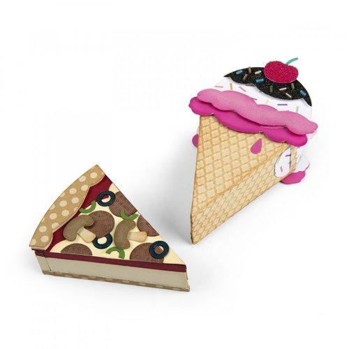 Sizzix - Bigz L Die - Mini Ice Cream and Pizza Box