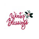 Sizzix - Sweet Christmas Collection - Thinlits Die - Phrase, Winter Blessings