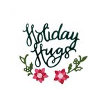 Sizzix - Sweet Christmas Collection - Thinlits Die - Phrase, Holiday Hugs