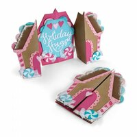 Sizzix - Sweet Christmas Collection - Thinlits Die - Card, Gingerbread Fold-a-Long
