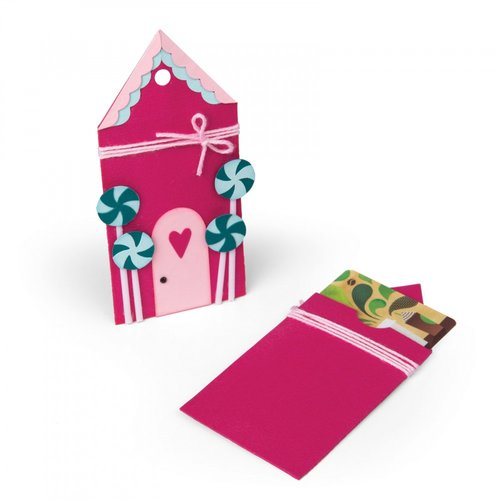 Sizzix - Sweet Christmas Collection - Bigz Die - Gingerbread Gift Card Holder