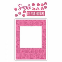 Sizzix - Impresslits - Embossing Folder - Birthday Smiles