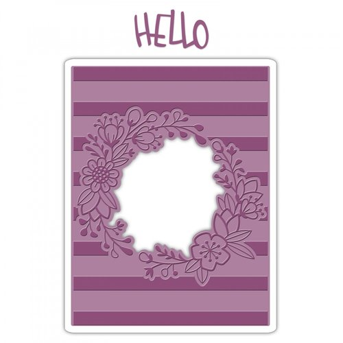Sizzix - Impresslits - Embossing Folder - Wildflower Frame