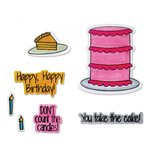 Sizzix - Framelits Die with Clear Acrylic Stamp Set - Take the Cake