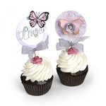 Sizzix - Framelits Die with Clear Acrylic Stamp Set - Cupcake Topper