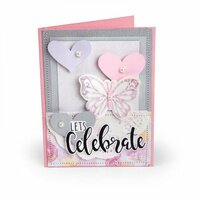 Sizzix - Framelits Die with Clear Acrylic Stamp Set - Let's Celebrate