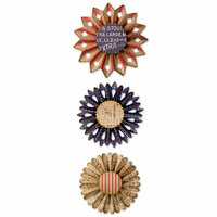 Sizzix - Tim Holtz - Alterations Collection - Thinlits Die - Rosette Set