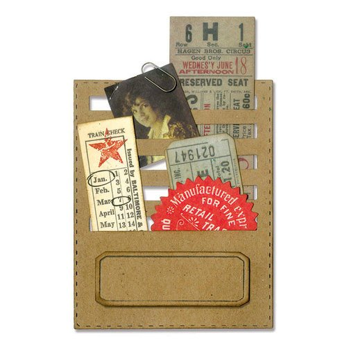 Sizzix - Tim Holtz - Alterations Collection - Thinlits Die - Stitched Slots