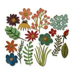 Sizzix - Tim Holtz - Alterations Collection - Thinlits Die - Funky Floral 1