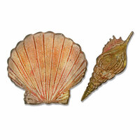 Sizzix - Tim Holtz - Alterations Collection - Bigz Die with Texture Fades - Seashells