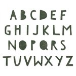 Sizzix - Tim Holtz - Alterations Collection - Bigz XL Alphabet Die - Cutout Upper