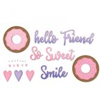Sizzix - Making Happy Happen Collection - Thinlits Die - Phrases, Sweet and Donut