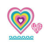 Sizzix - Cards That Wow Collection - Framelits Die - Hearts, Dotted