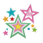 Sizzix - Cards That Wow Collection - Framelits Die - Stars, Dotted