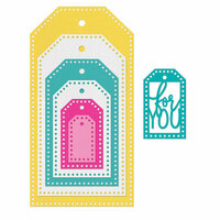 Sizzix - Cards That Wow Collection - Framelits Die - Tags, Dotted