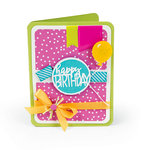 Sizzix - More Cards That Wow Collection - Framelits Die - Card, Rounded with Circle Drop-ins