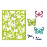 Sizzix - Thinlits Die and Embossing Folder - Just a Note Butterflies