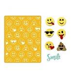 Sizzix - Thinlits Die and Embossing Folder - Smile Emojis
