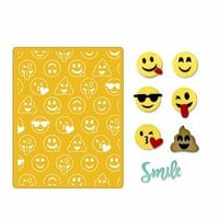 Sizzix - Thinlits Die and Embossing Folder - Smile Emojis