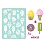 Sizzix - Thinlits Die and Embossing Folder - Sweet Treats