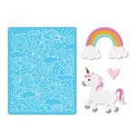 Sizzix - Thinlits Die and Embossing Folder - Unicorn and Rainbows