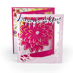 Sizzix - Bloom and Blossom Collection - Thinlits Die - Card, Floral Tri-fold