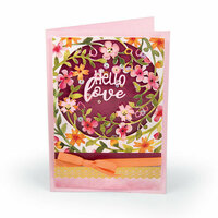 Sizzix - Bloom and Blossom Collection - Thinlits Die - Floral Wreath