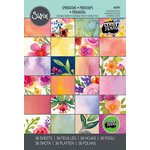 Sizzix - Bloom and Blossom Collection - 4 x 6 Cardstock Pad - Springtime